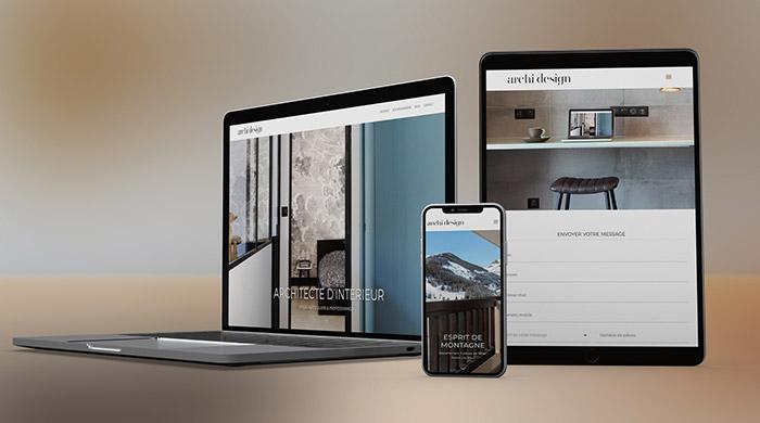 Site internet pour architecte d'intérieur